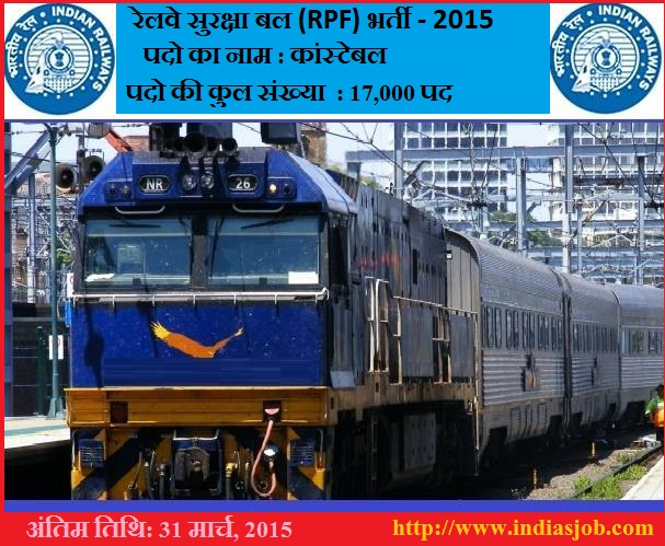 Railway Protection Force (RPF) Recruitment 2015_indiasjob