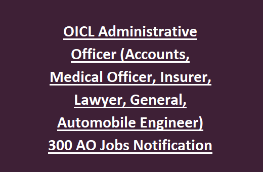 Oriental Insurance Company Limited (OICL ) indiasjob