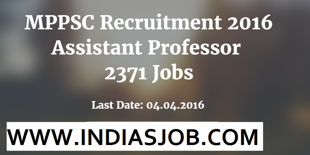 MPPSC Recruitment 2016 indiasjob