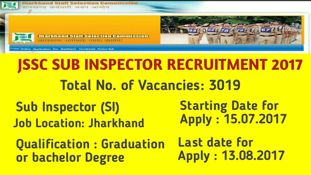 Jharkhand Police Constable SI Recruienment Constable indiasjob